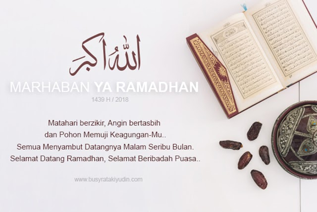 RAMADHAN BULAN YANG DINANTI OLEH SELURUH UMAT ISLAM