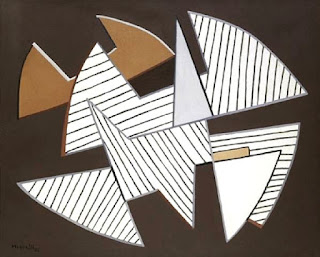 Animated Tension (1953): An example of the abstract art of  the Italian painter Alberto Magnelli