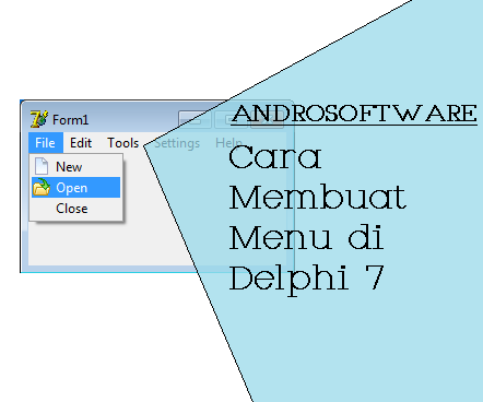 Cara Membuat Menu di Delphi 7