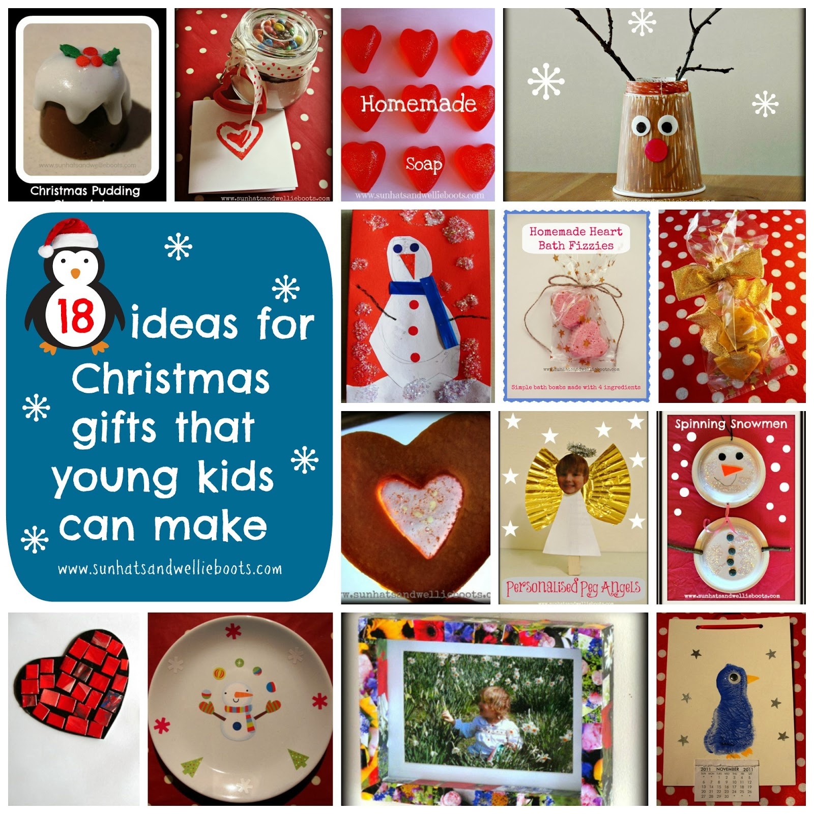 Handmade Christmas Gifts For Kids: Sun Hats & Wellie Boots: 18 Homemade Christmas Gifts That