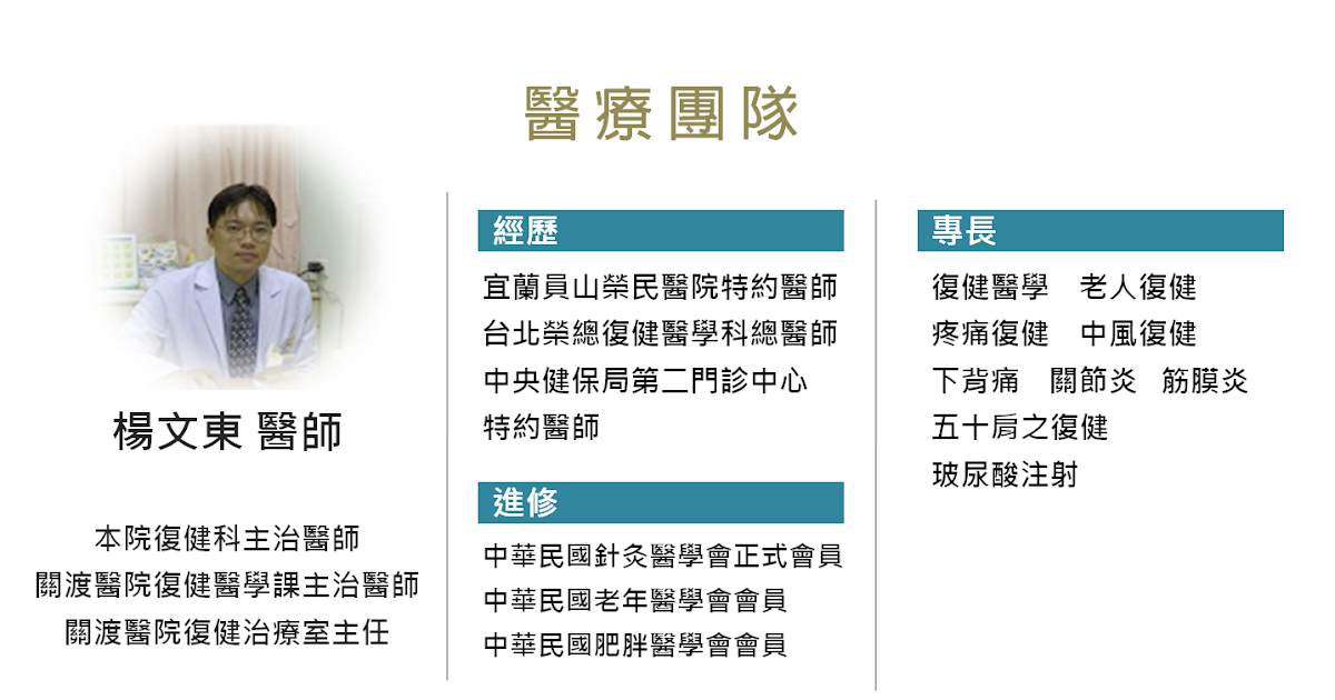 楊文東醫師介紹 - 裕昇診所