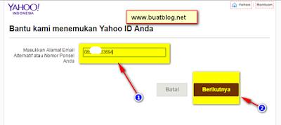 cara memulihkan email yahoo karena lupa