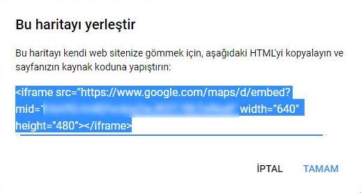 Yerleştirme kısmındaki kod parçacığını web sitenizde görünmesini istediğiniz sayfaya kopyala-yapıştır yapmanız yeterli olacaktır.
