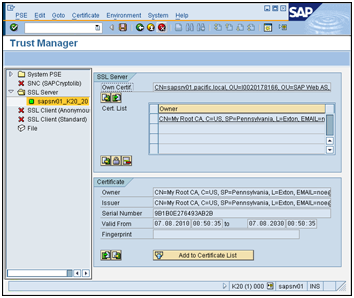 SAP AS ABAP – Authentication using X.509 Client Certificates