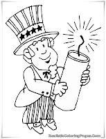 4th july fireworks coloring pages kids