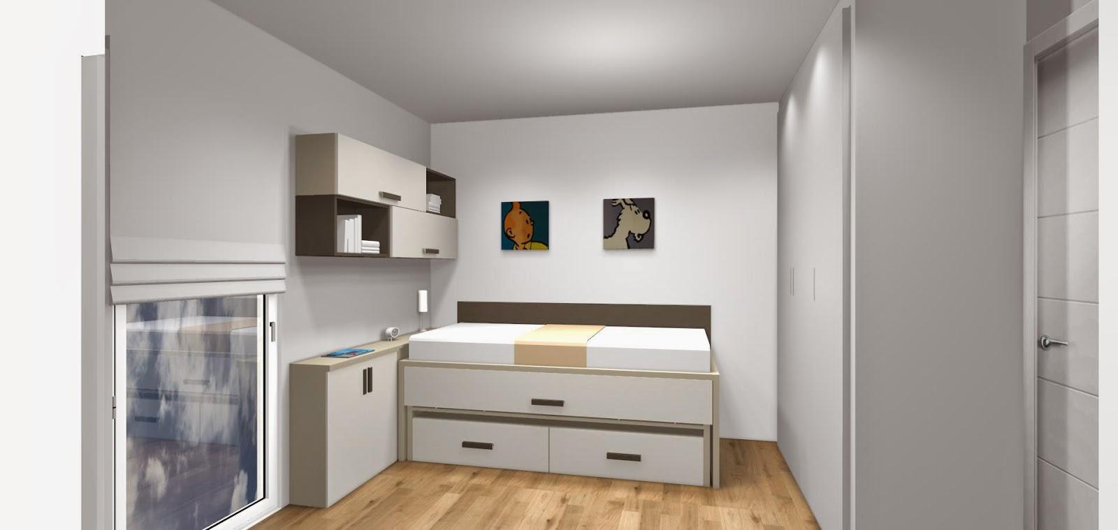 habitación juvenil con cama compacta