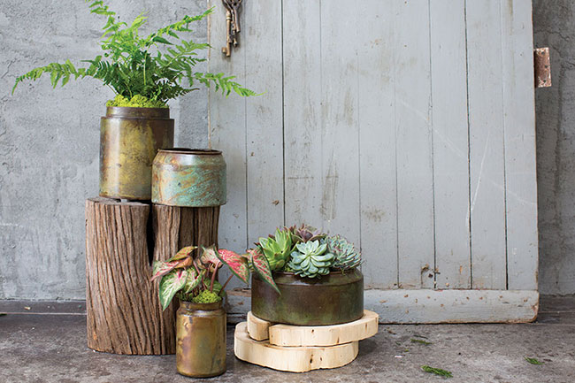 Accent Decor Top 10 Bestsellers - earthy and rustic metal planters