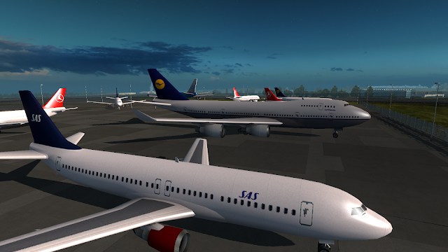 ets 2 real plane livery mod screenshot 5, scandinavian airlines