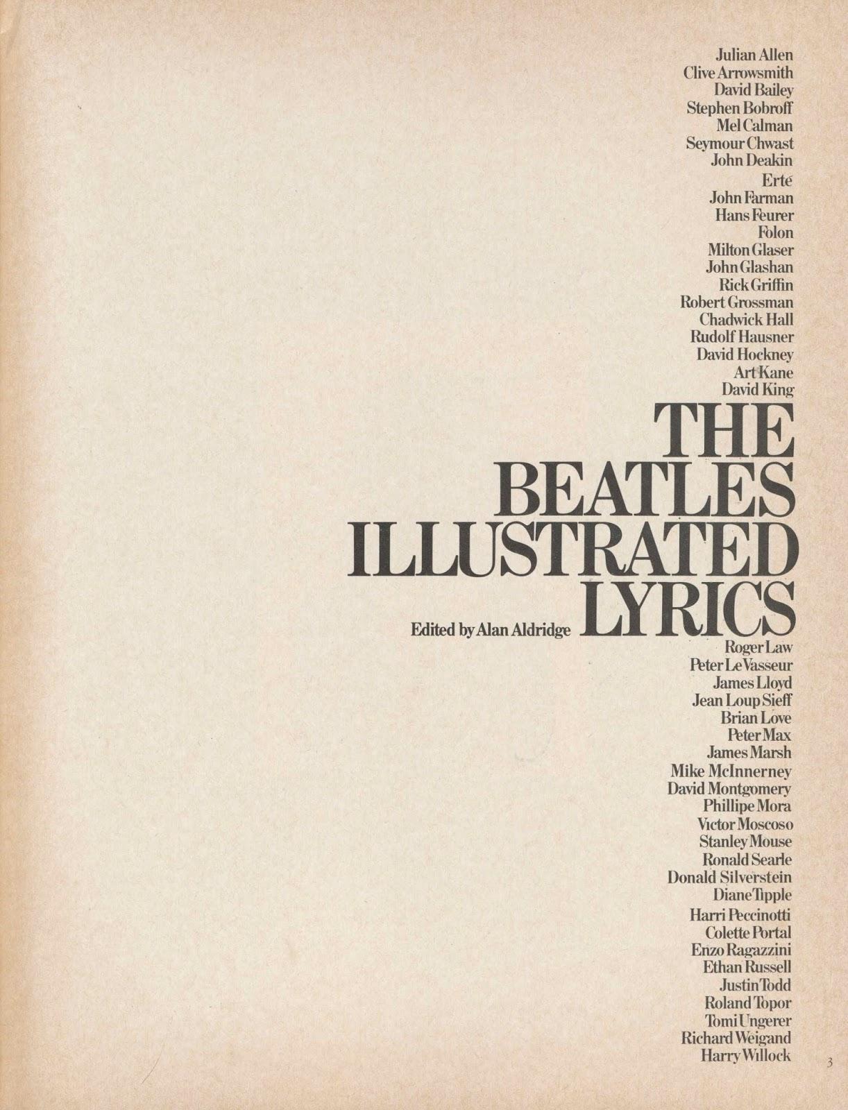 The Beatles Illustrated Lyrics by Alan Aldridge | NOOK ...