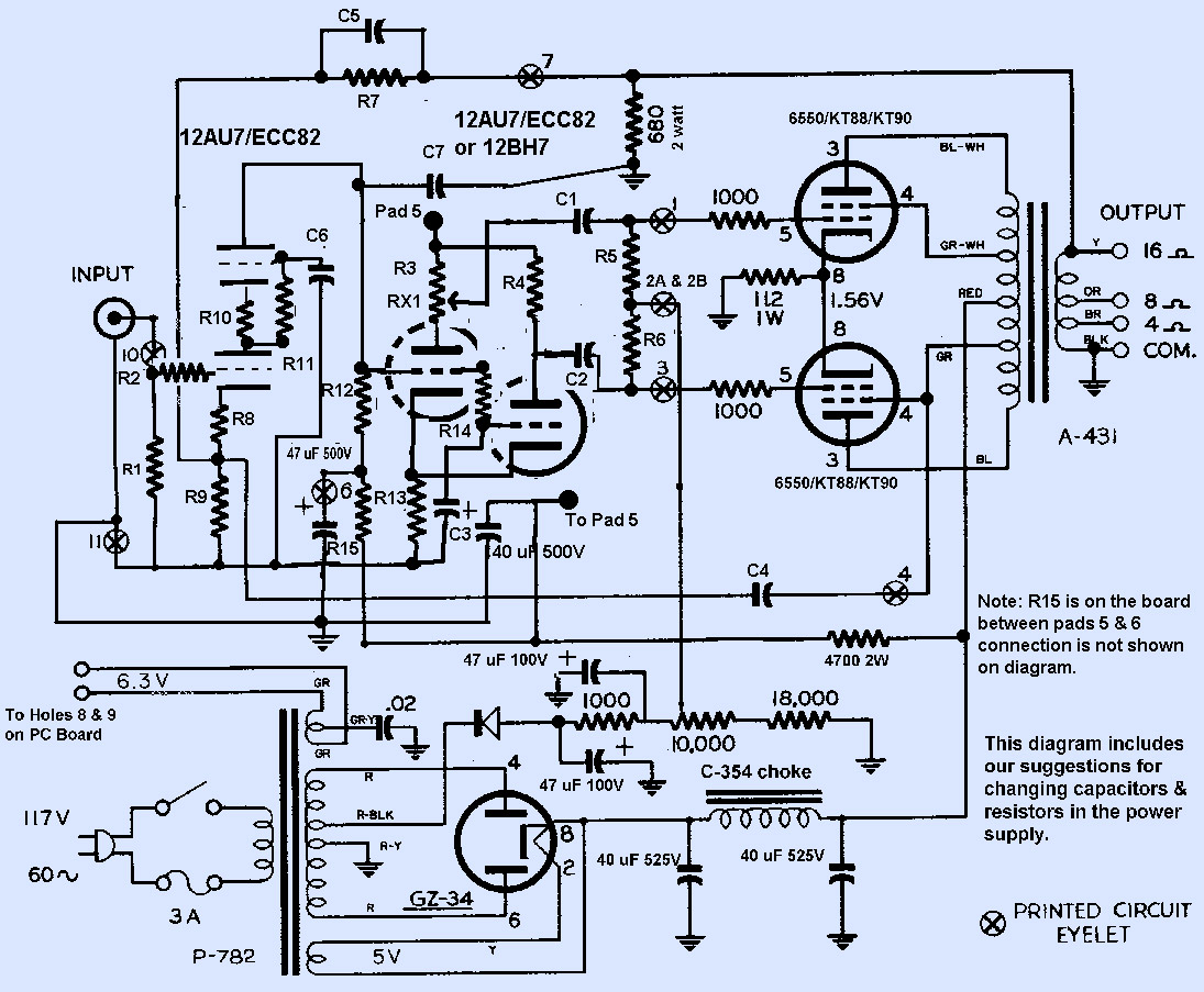 Dynaco Mk3 Schematic on