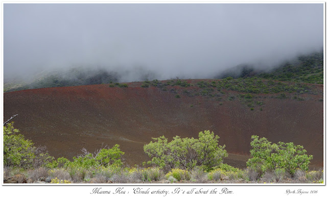 Mauna Kea: Clouds artistry. It's all about the Rim.