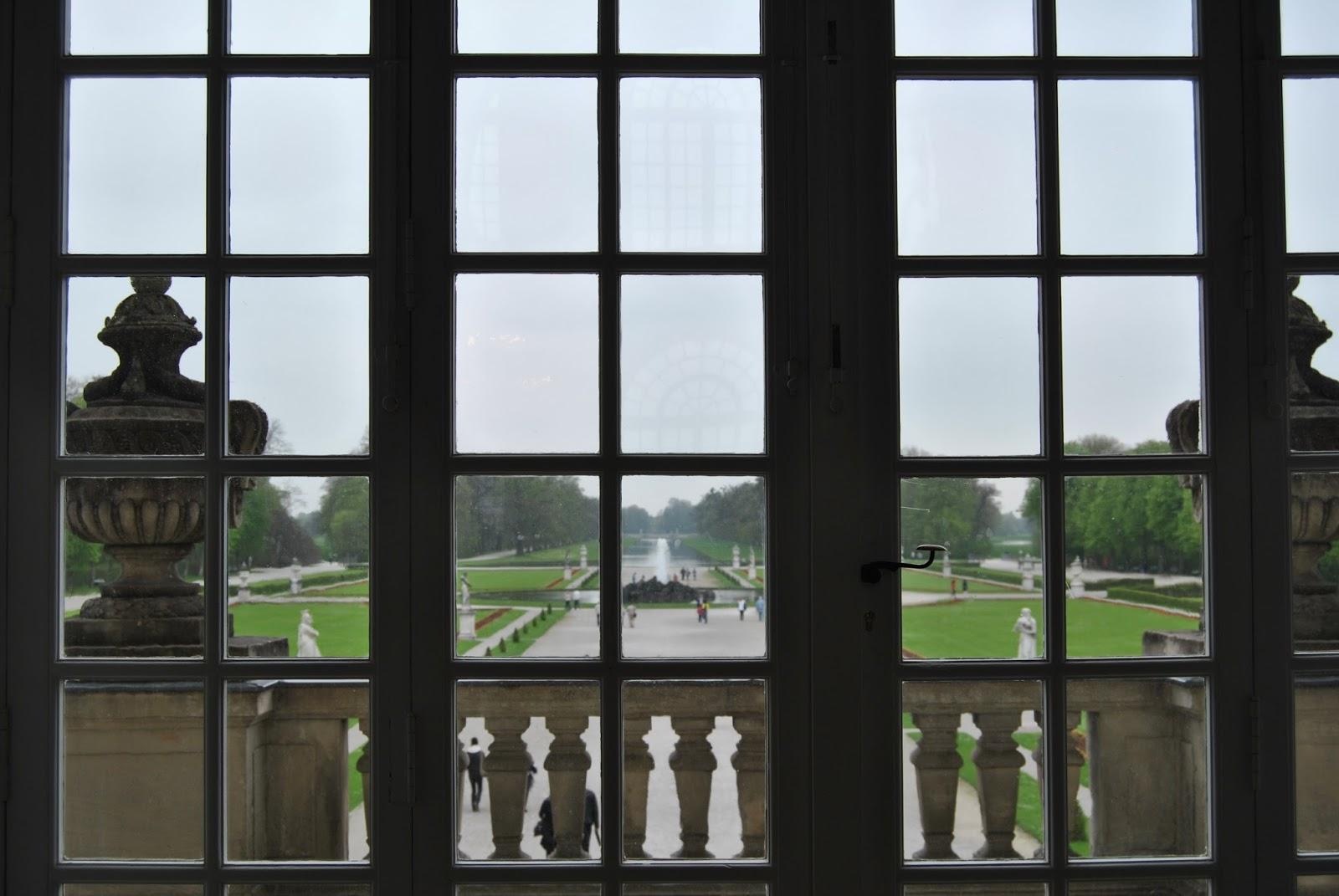 Palacio de Nymphenburg Munich vistas al jardín desde el palacio