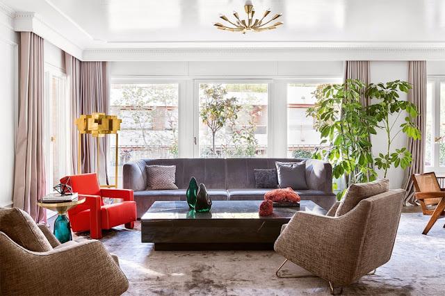 Interior de estilo haussmanniano para una vivienda barcelonesa increíble