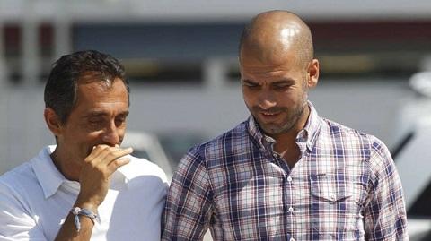 Manuel Estiarte và Pep Guardiola