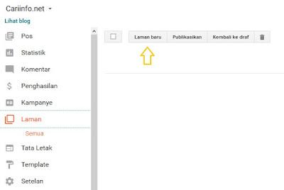 Cara Membuat Halaman Statis Blog