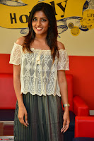 Eesha in a cute deep neck top and Skirt at at Big FM 114.JPG