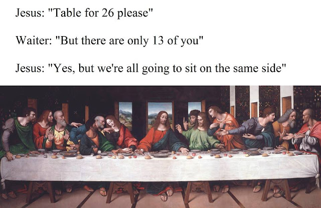 funny caption on the last supper art