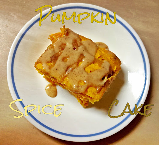 What I'm Eating This Week: Pumpkin Spice Cake