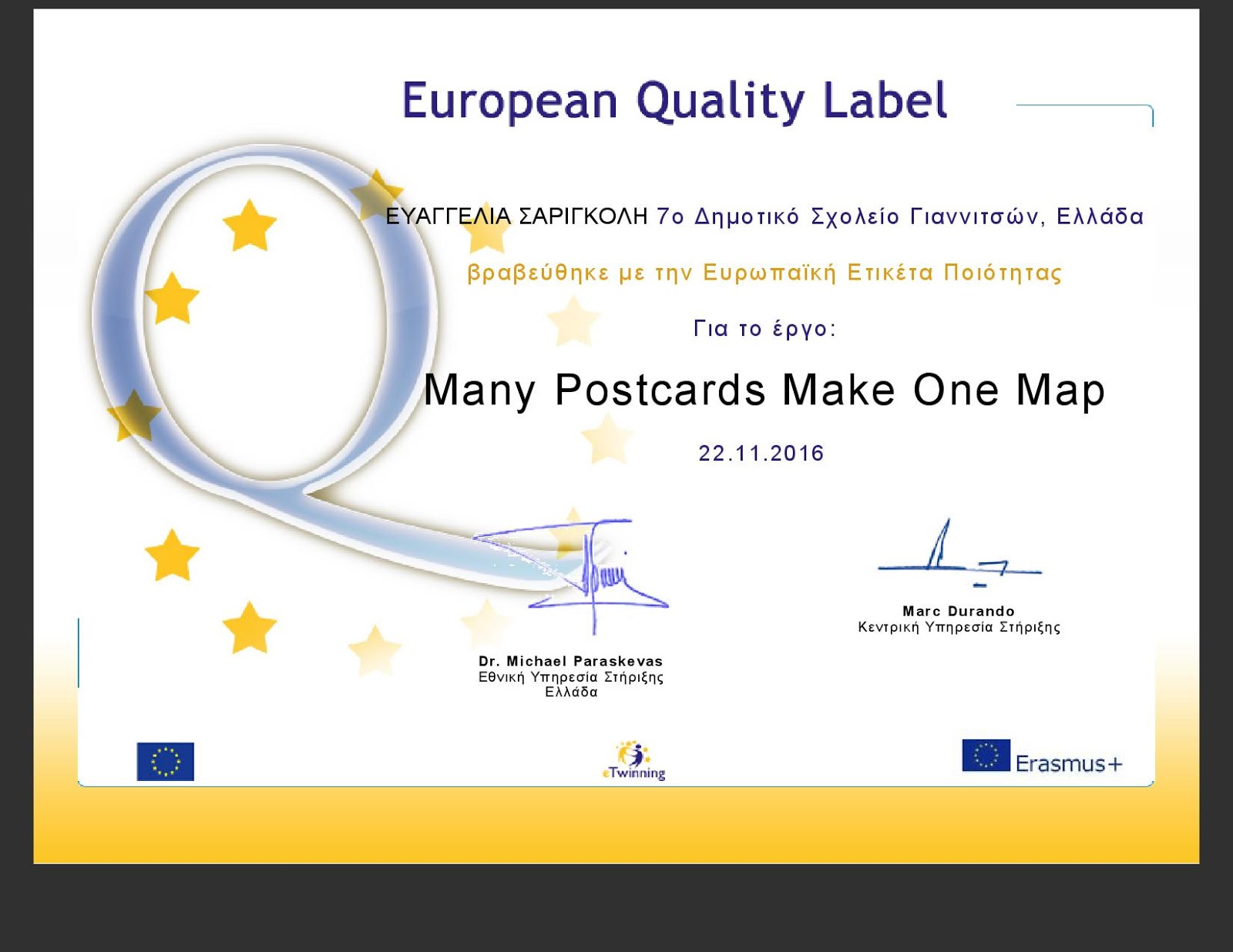 ETWINNING PROJECT QUALITY LABEL