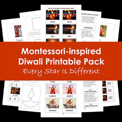 Montessori-inspired Diwali Printable Pack