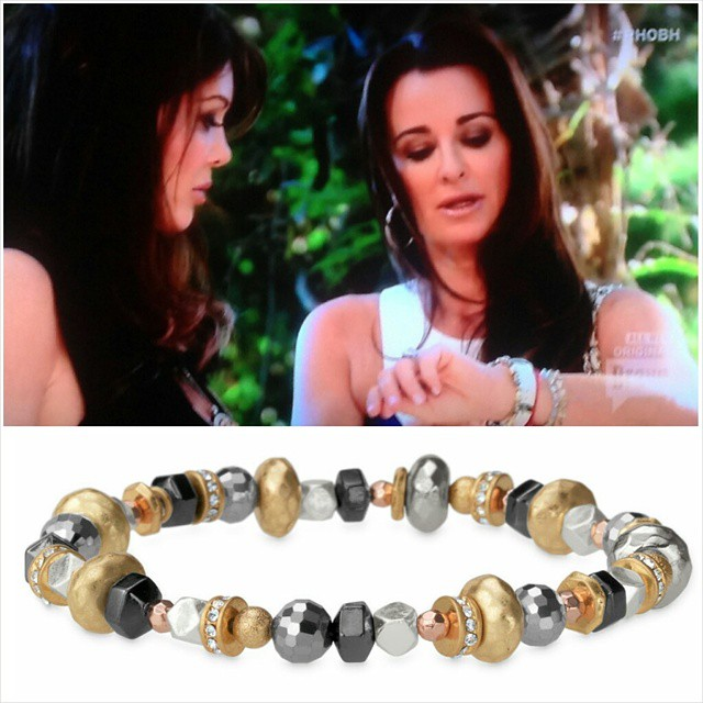 Kyle Richards wearing Stella & Dot Moxie Bracelet
