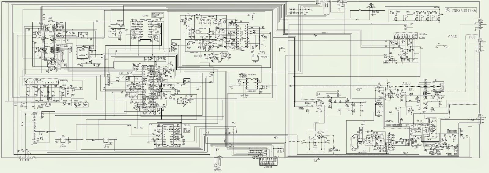 CT20SX11CE  CT20SX11E  PANASONIC TV  CIRCUIT DIAGRAM