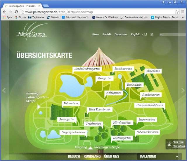 Plan des Palmengartens