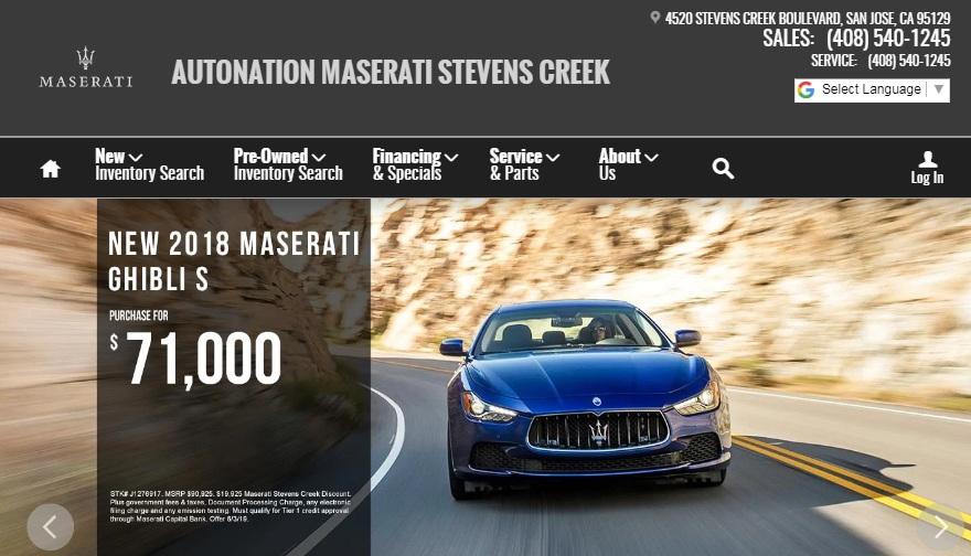 Maserati of Stevens Creek, Your Premier San Jose Area Dealership