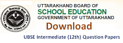 UBSE Intermediate (12th) Model Question Papers 2017