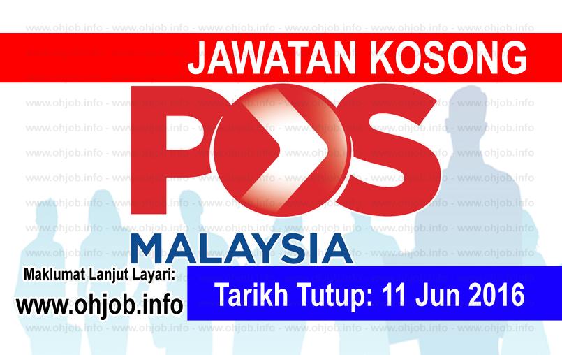 Jawatan Kerja Kosong Pos Malaysia Berhad logo www.ohjob.info jun 2016
