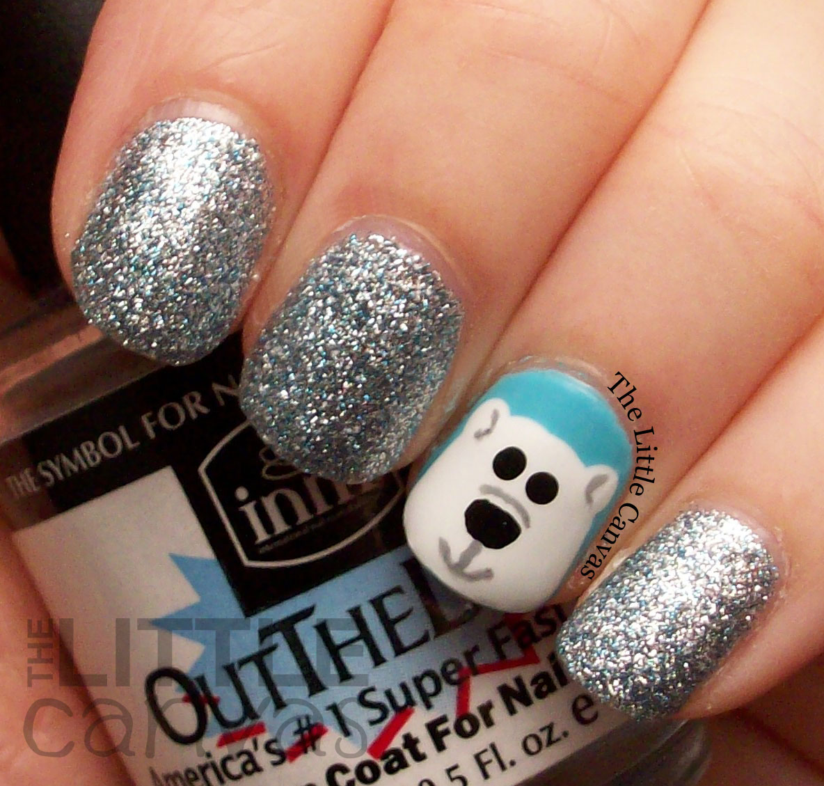 polar bear nail art the little canvas. Black Bedroom Furniture Sets. Home Design Ideas