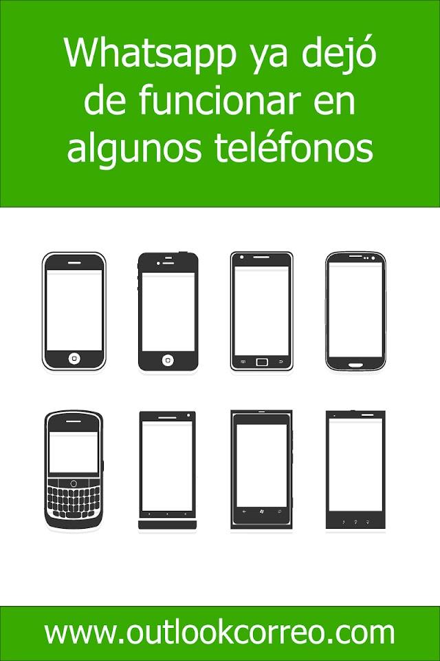 Whatsapp ya dejó de funcionar en algunos teléfonos