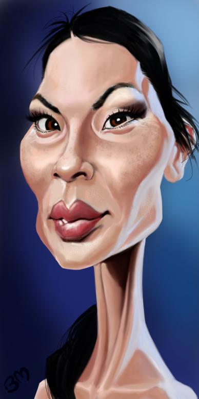 Lucy Liu por Bruno Munier