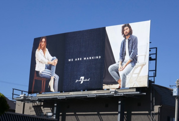 7 For All Mankind Spring 2019 billboard