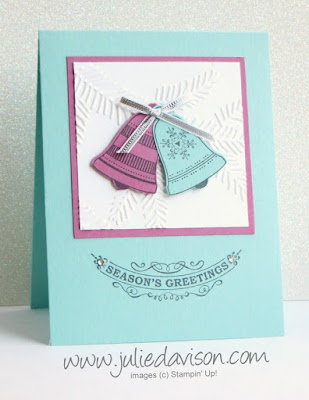 Stampin' Up! Seasonal Bells Christmas Greetings Card #stampinup 2016 Holiday Catalog www.juliedavison.com