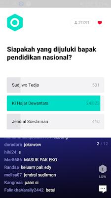 jawaban dari soal kuis aplikasi T-GO