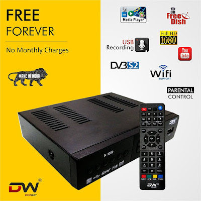 Digiway Free to Air DVB-S2 MPEG-4 FullHD Set-Top Box with Wifi