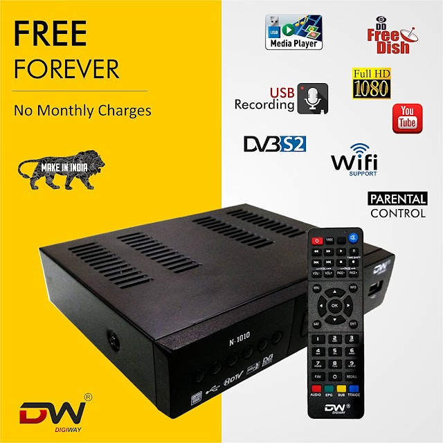 Digiway DW01 Free to Air DVB-S2 MPEG-4 FullHD Set-Top Box with Wifi