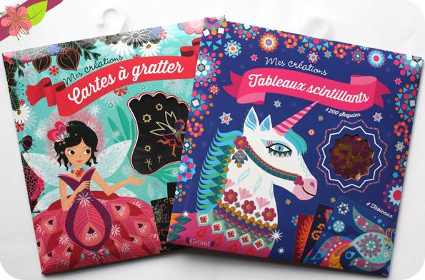 Mes créations : Cartes à gratter - Les fées & Tableaux scintillants - Editions Gründ