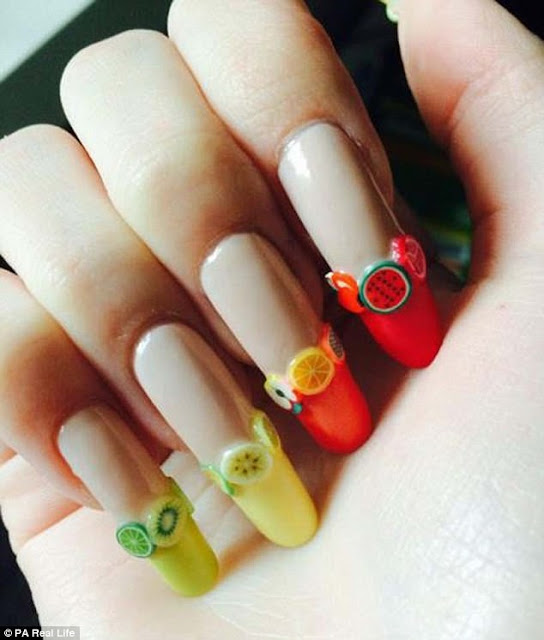 Amazing And Proudfully Work On her Nails By German girl for three years.