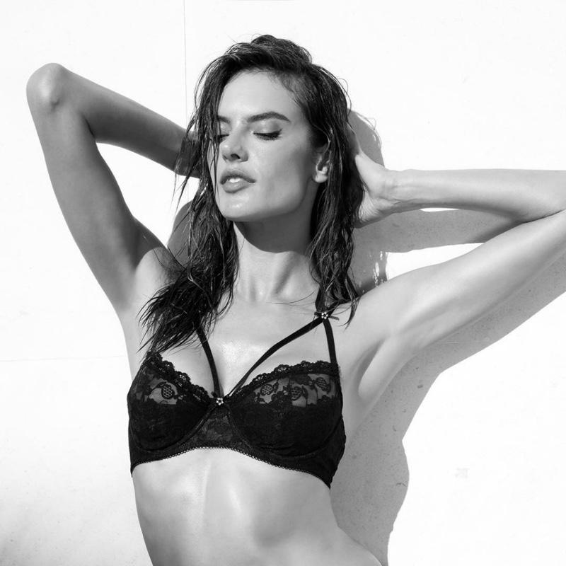 Alessandra Ambrosio stars in Lascana lingerie fall-winter 2018 campaign