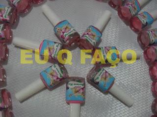 barbie e as três mosqueteiras, brindes da barbie, esmalte, lembrancinhas, brindes, festa, infantil