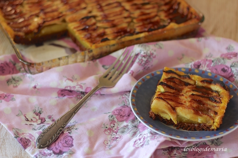 Tarta de centeno y manzana