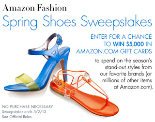 Amazon Fashion Spring Shoes Sweepstakes