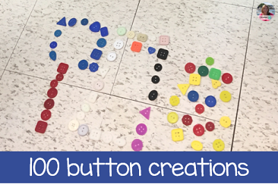 100s day - create a picture with 100 buttons
