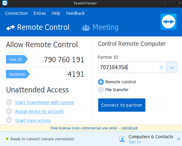 Remote another PC and mobile devices using Teamviewer in archlinux