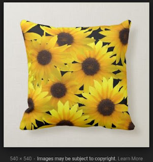 The ORIGINAL Boldly Sunny Sunflowers on Black Throw Pillow
