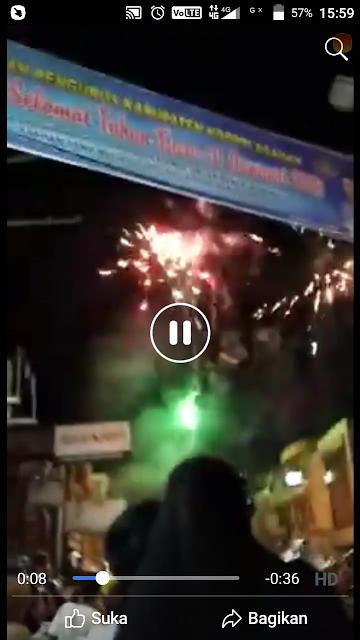 Suasana malam tahun baru di Kota Kisaran.