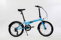 EuroMini ZiZZO Via folding bike in sky blue, image