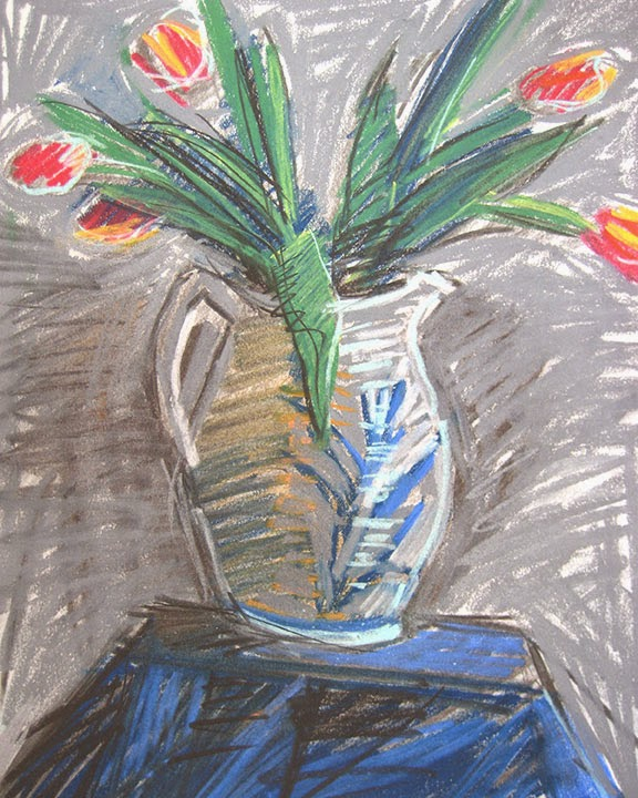 Tulips in Crock Jug by Char Fitzpatrick
